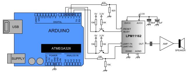 Collegamento tra LPM11162 ed Arduino